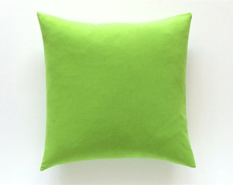 50% OFF Solid Green Decorative Pillow Cover. All Sizes. Chartreuse Throw Pillow Cover Cushion