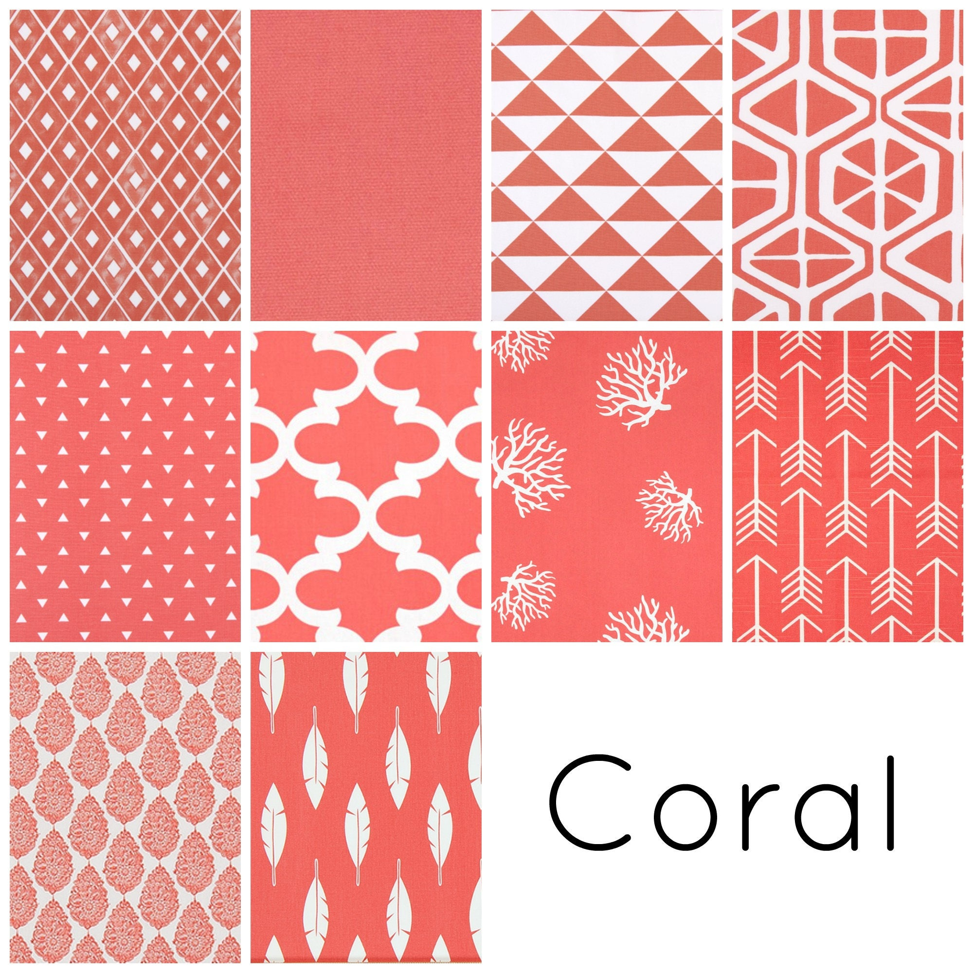 Pair Of 2 Coral Pink Curtain Panels Decorative Window