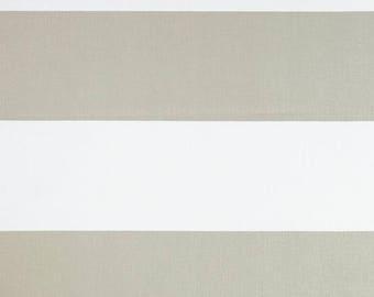 1 Yard French Grey Cabana Stripe Fabric - Premier Prints Thick Stripes - Stripe Fabric by the Yard