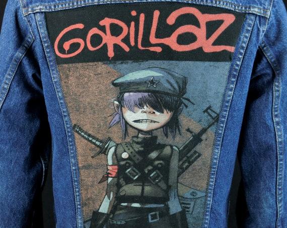 Gorillaz Levis Denim Jean Jacket Blue Trucker USA Concert Tour Adult 38 SMALL
