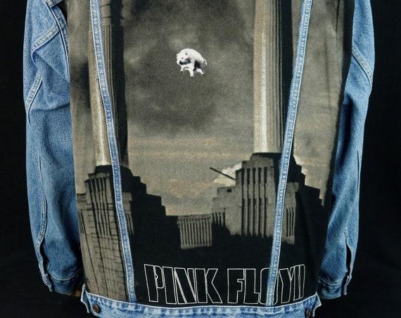 Pink Floyd Levis Denim Jacket Animal Blue Jean Red Tab Mens XLarge
