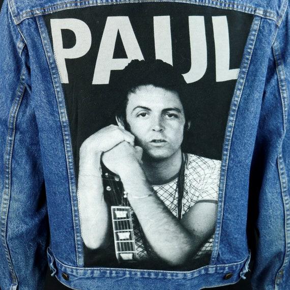 Paul McCartney Levis Denim Jacket Beatles VTG Made USA Blue Jean 48L LARGE