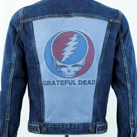 Grateful Dead Levis Denim Jacket Steelie Blue Jean and Co John Mayer Mens Small