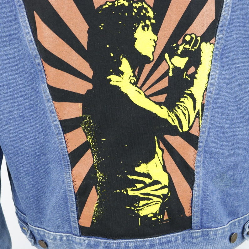 6300f35f650 The Doors Blue Jean Jacket Denim Trucker Jim Morrison Rustler