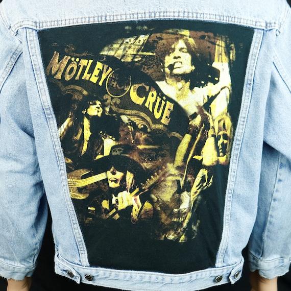 Motley Crue Levis Denim Jacket Tommy Lee Blue Jean Concert Tour Mens Medium