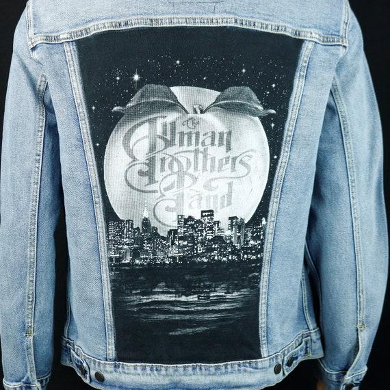 The Allman Brothers Band Levis Denim Jacket New York City Blue Jean Men's XLarge