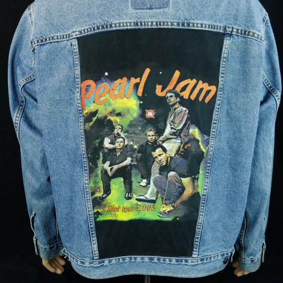 Pearl Jam Levis Jacket Blue Jean Denim Trucker 2003 Concert Tour Mens XLarge