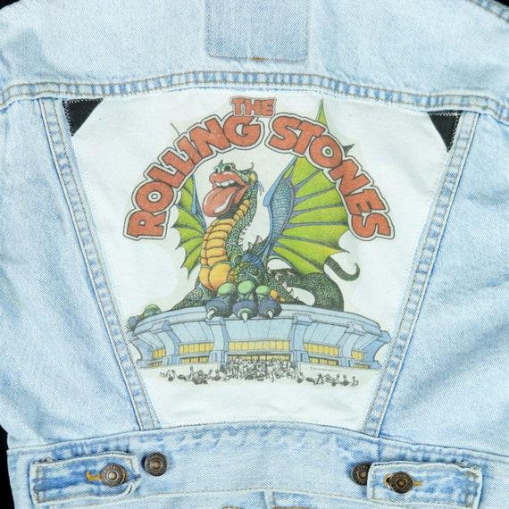 Rolling Stones Levis Denim Jacket 1981 Tour Blue Jean Trucker Youth SMALL