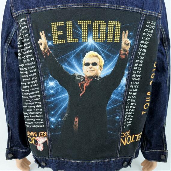 Elton John Levis Denim Jacket Blue Trucker Red Tab 2010 Concert Tour XLARGE
