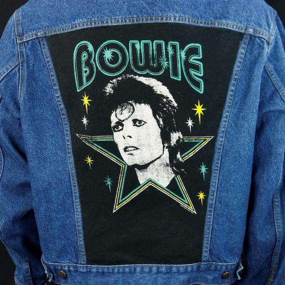 David Bowie Levis Denim Jacket Red Tab Blue Jean Ziggy Stardust Adult Tall Large