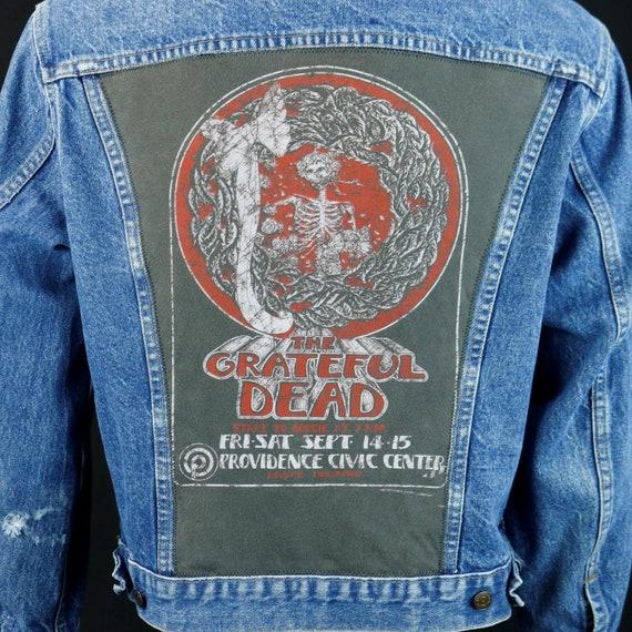 Grateful Dead Levis Denim Jacket Steelie VTG Made in USA Blue Jean 44 MEDIUM