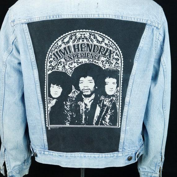 Jimi Hendrix Experience Levis Denim Jacket Blue Jean VTG USA Distressed Medium