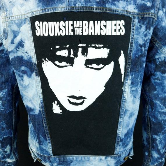 Souxsie and The Banshees Denim Jacket Levis Blue Jean Bleach Distress SMALL