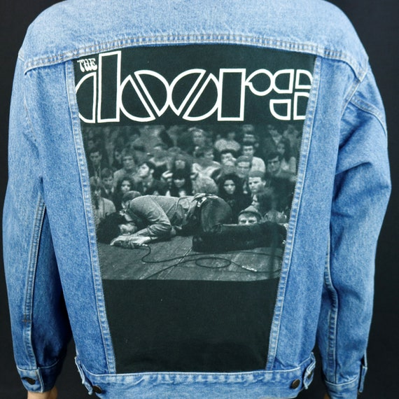 The Doors Jim Morrison Jacket Levis Denim VTG Made USA Trucker Jean Blue Large