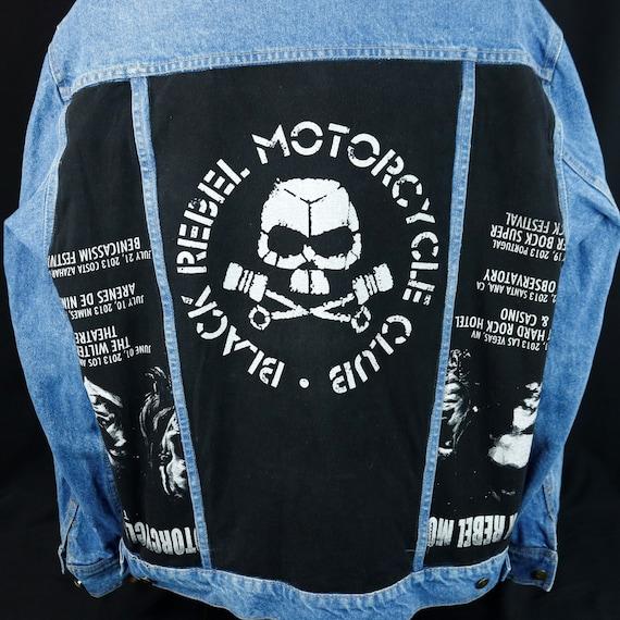 Black Rebel Motorcycle Club Denim Jacket 2013 Tour Blue Jean WOMENS XLARGE