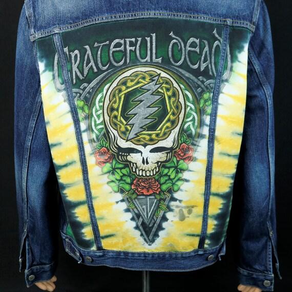 Grateful Dead Levis Denim Jacket Steelie Blue Jean and Co John Mayer Mens Large