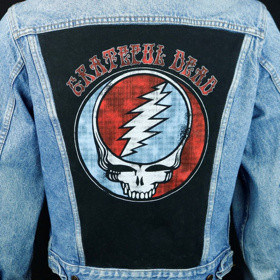 Grateful Dead Levis Denim Jacket Blue Jean Steelie VTG USA 40R  Mens Small
