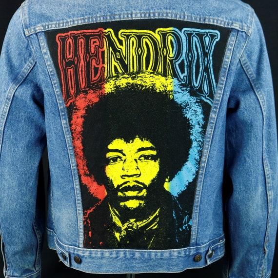 Jimi Hendrix Levis Denim Jacket Blue Jean VTG USA Karl Ferris 40 Mens Small