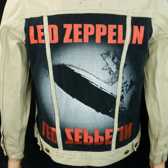 Led Zeppelin Levis Denim Jacket Tan Jean Jimmy Page Robert Plant Mens Small