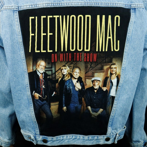 Fleetwood Mac Levis Jacket Blue Jean Denim Trucker Stevie Nicks Mens Short XLarge
