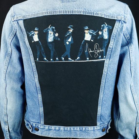Michael Jackson Levis Denim Black Jean Jacket Trucker Made in USA Adult MEDIUM