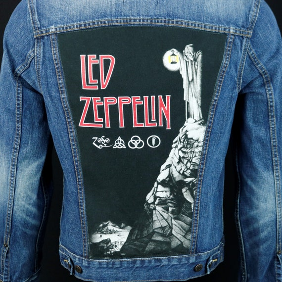Led Zeppelin Levis Denim Jacket ZOSO Blue Jean Trucker Page Plant Mens Small