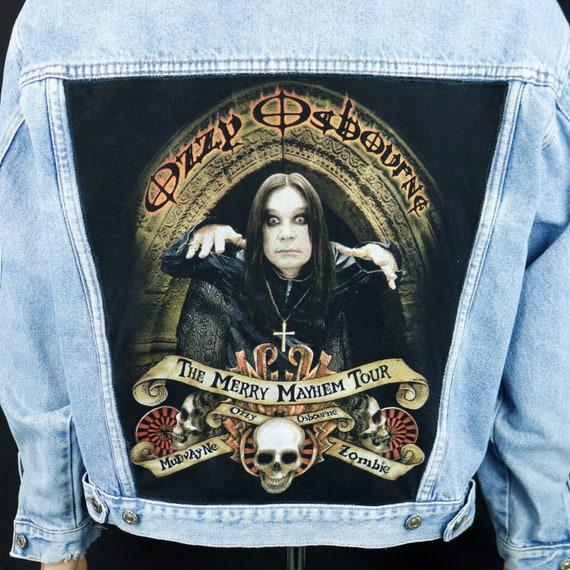 Ozzy Osbourne Levis Denim Jacket Blue Jean Concert Tour Black Sabbath Mens Large