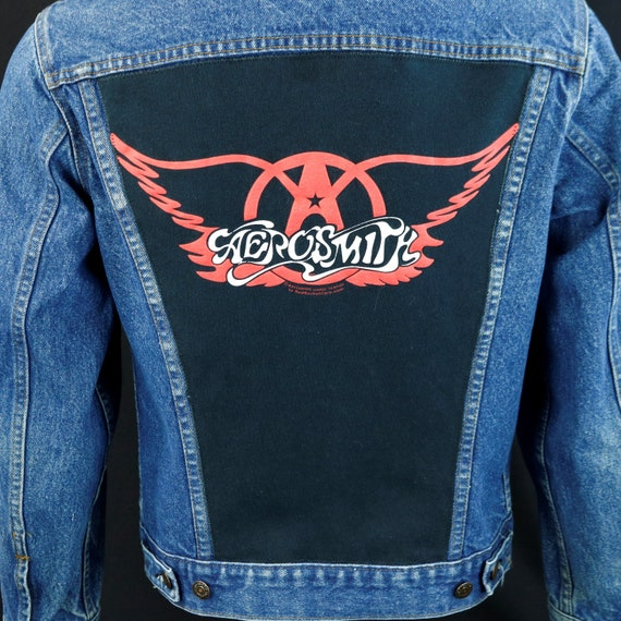 Aerosmith Levis Denim Trucker Jacket Blue Steven Tyler Made in USA 38 Mens Small