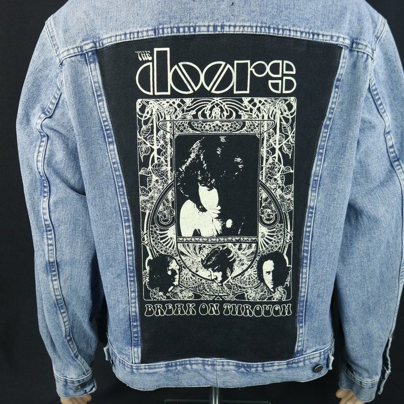 bfdc4806046 The Doors Denim Jacket Break on Through Blue Jean Trucker Jim