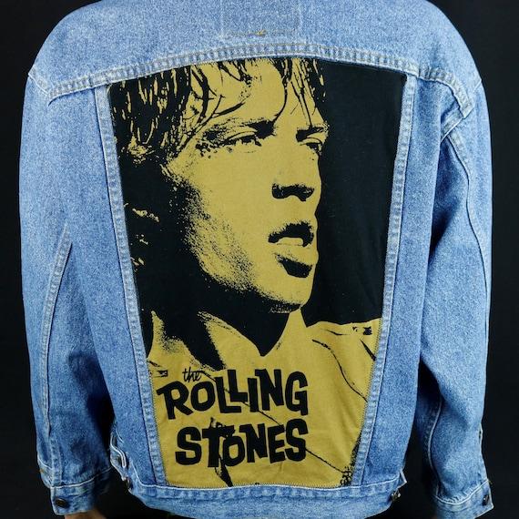 Mick Jagger Rolling Stones Levis Jacket Denim Blue Jean VTG USA Mens Large