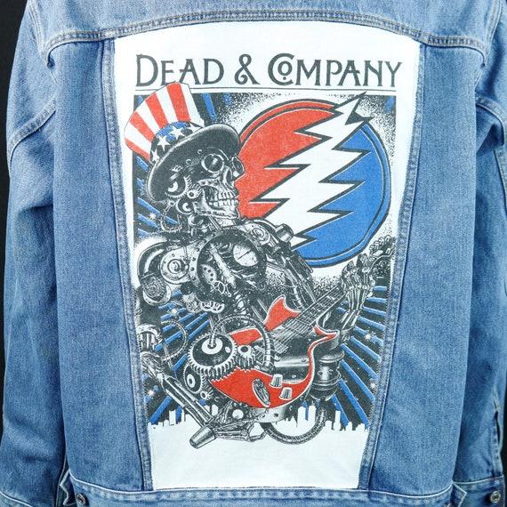 Dead And Company Levis Denim Jacket Grateful Skeleton Jean John Mayer XLARGE