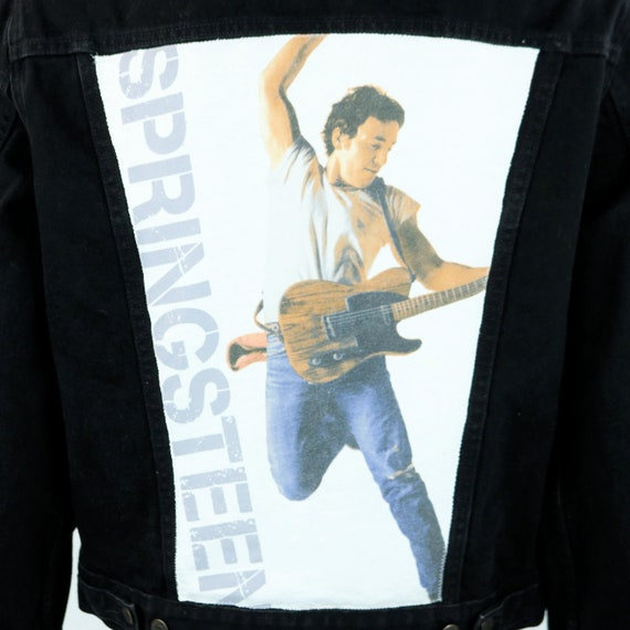 Bruce Springsteen Levis Denim Jacket Born To Run Black Jean Trucker Mens Medium