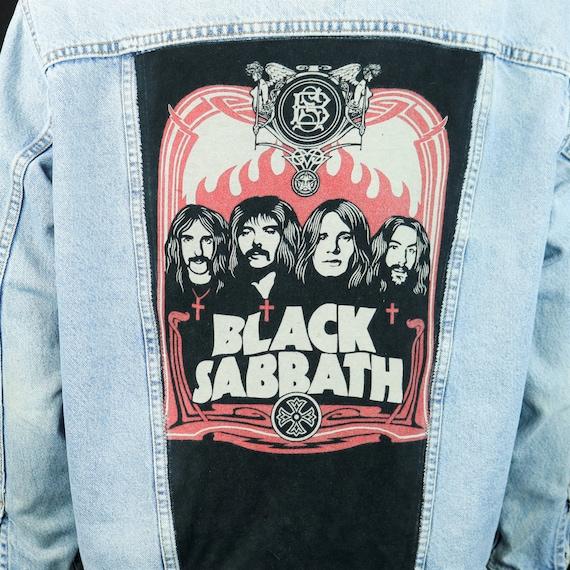 Black Sabbath Levis Denim Jacket Blue Jean Vintage USA Ozzy Osbourne Mens Large