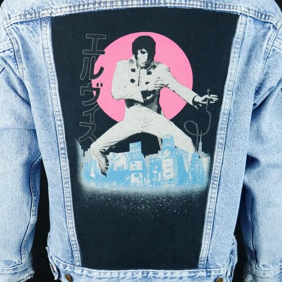 Elvis Presley Levis Denim Jacket Blue Jean Red Tab Japan Distressed Mens Small