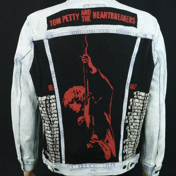 Tom Petty Heartbreakers Levis Denim Jacket Blue Jean Red Tab Acid Wash LARGE