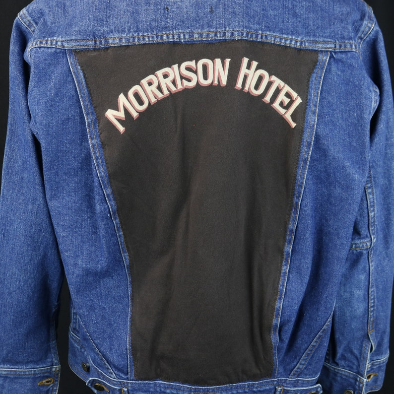 d911f09150e Morrison Hotel The Doors Jean Jacket Blue Azani Denim Trucker