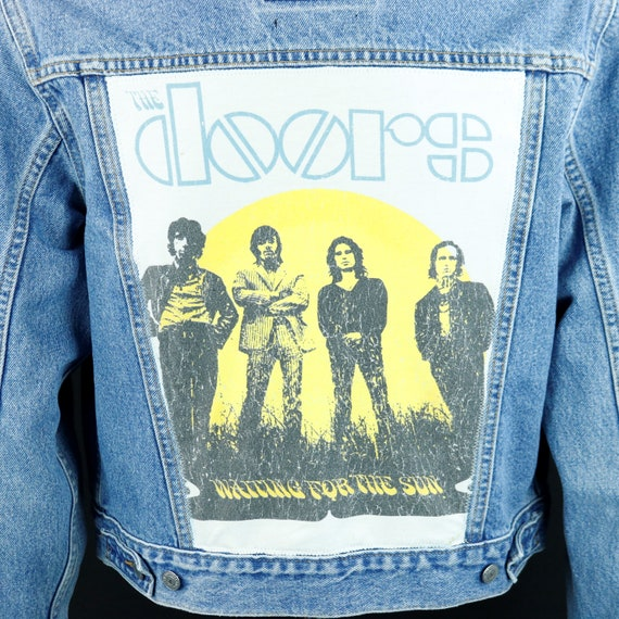 The Doors Levis Denim Jacket Waiting for the Sun Trucker Jean Blue Womens Large