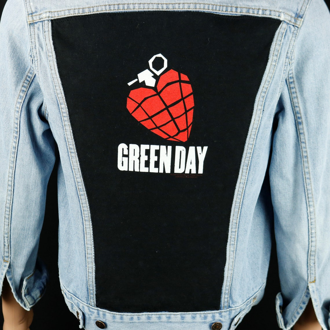 Green Day Levis Denim Jacket Mens Small