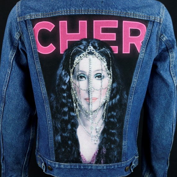 Cher Levis Denim Jacket Blue Jean VTG Made in USA Concert Tour Mens Small 40L