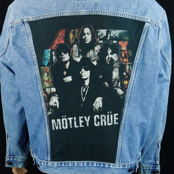 Motley Crue Levis Denim Jean Jacket Concert Tour Tommy Lee Blue Mens XLarge