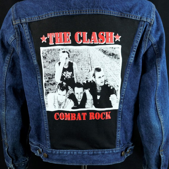 The Clash Levis Jacket Blue Jean Denim Trucker Combat Rock VTG USA Mens Medium