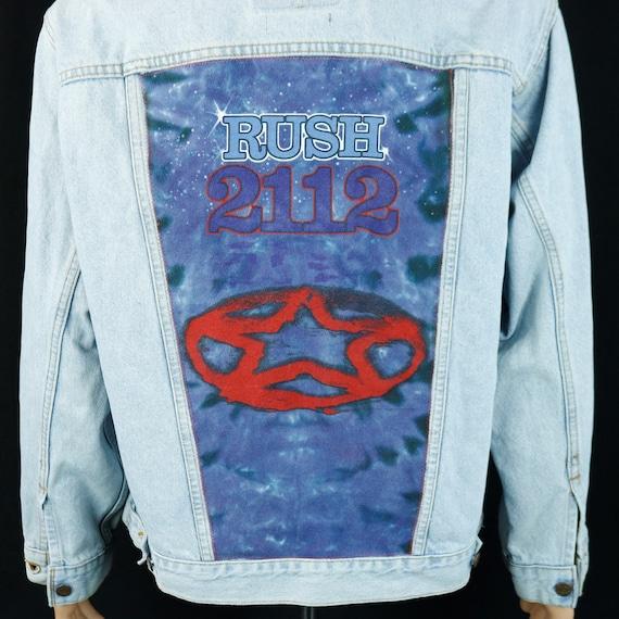 RUSH Band Levis Denim Jacket Blue Jean Neil Peart USA VTG 2112 Mens Medium
