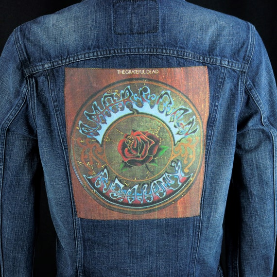 Grateful Dead Levis Denim Jacket American Beauty Cloth Back Patch Jean Men SMALL
