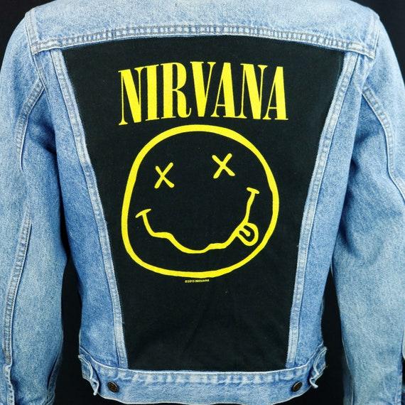 Nirvana Levis Denim Jacket Kurt Cobain Blue Jean Trucker VTG Canada 40R SMALL
