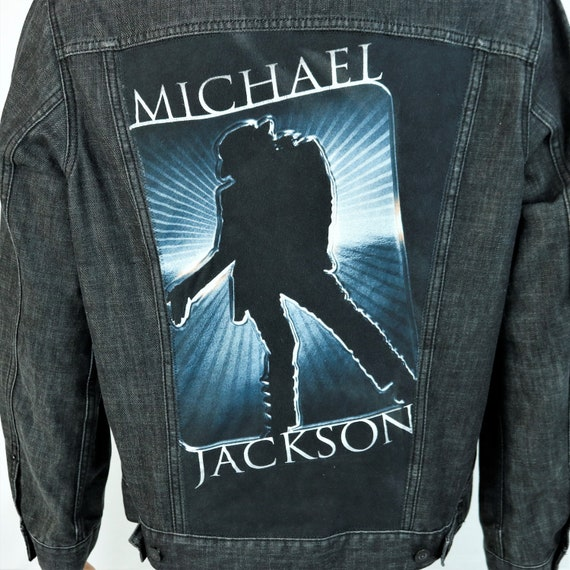 Michael Jackson Levis Denim Black Jean Jacket Trucker Billie Jean Mens Large