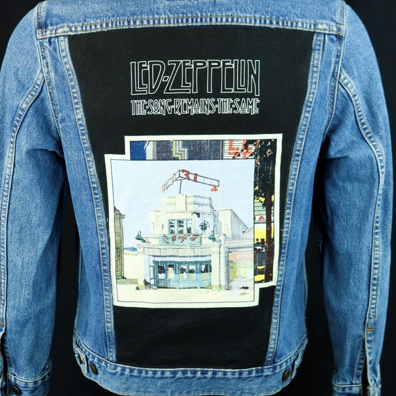 Led Zeppelin Levis Denim Jacket Blue Jean Song Remains The Same Mens Small