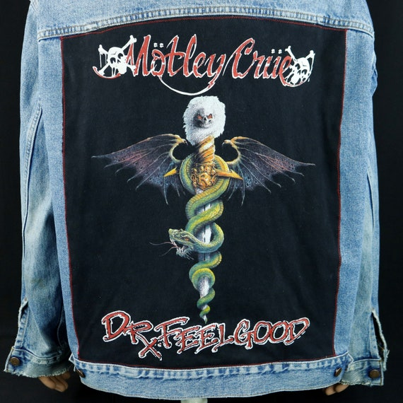 Motley Crue Levis Denim Jean Jacket Dr Feelgood Tommy Lee Blue Mens XLarge
