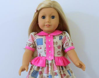 "1804a New and Improved, Valspierssews Doll Clothes Pattern, Add-on Bibs, Fits Popular 18"" Dolls, Use with 1804 The 18""Dress"