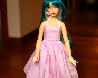 Delf Feeple 60 Pink Polka Dot Halter Dress For SD BJD