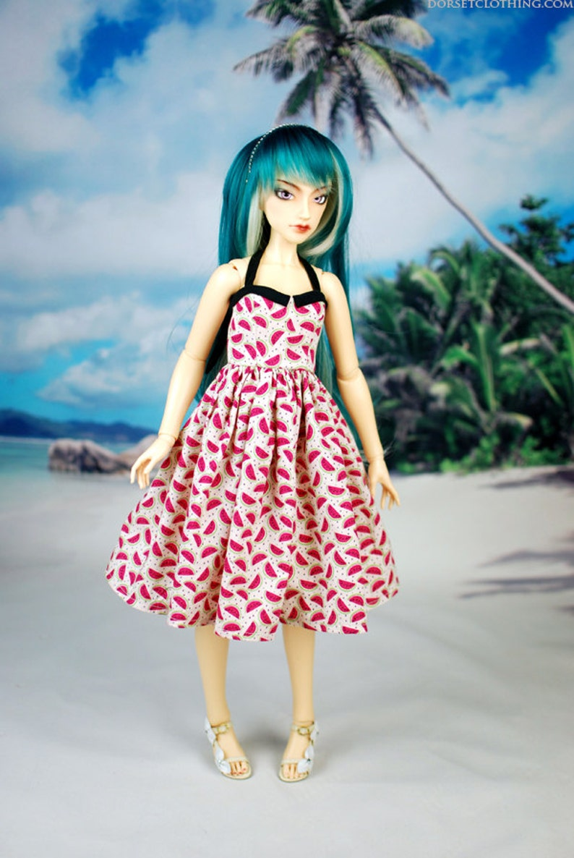 Delf Feeple 60 Watermelon Halter Dress For SD BJD Last One